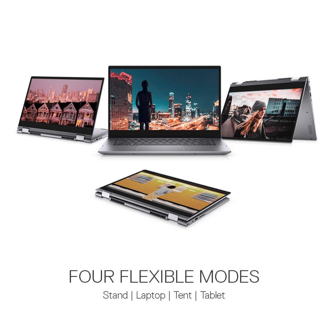 "DELL INSPIRON 5406 2 in 1 i5-1135G7 8GB 256GB SSD SHARED 14"" TOUCH HD X360 SILVER BACKLIT ENG KB WIN 10 HOME"