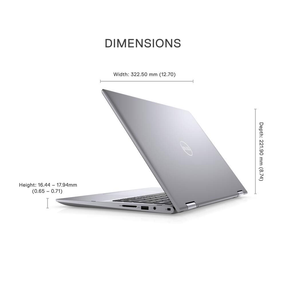"""DELL INSPIRON 5406 2 in 1 i5-1135G7 8GB 256GB SSD SHARED 14"""" TOUCH HD X360 SILVER BACKLIT ENG KB WIN 10 HOME"""